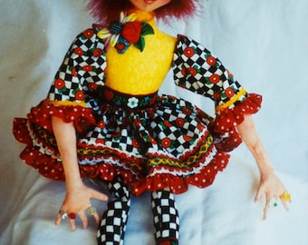 22 inch Doll Craft Sewing Pattern by Patti Medaris Culea, Banbury Cross Beth, with movable fingers and Needle sculpted face, Uncut