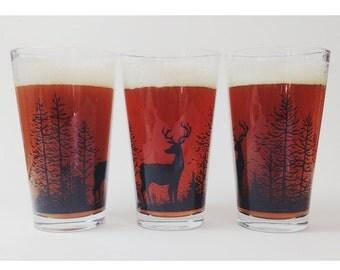 Deer Pint Glass