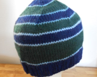 Hand knitted Wool Hat - Fall Hat - Winter Hat - Warm Hat