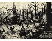 WW1 vintage postcard Cold Steel US Marines Hand Battle France Military collectible