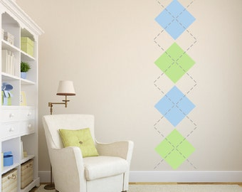 Argyle Wall Decal - Large  DB179