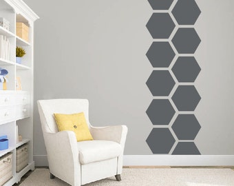 Hexagon honeycomb wall pattern decal DB346 large pattern