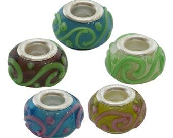 Lampwork European bead MIX - Set of 10 - #EURO122