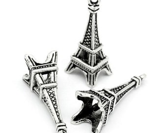 Eiffel Tower Charm - set of 6 charms - #E115