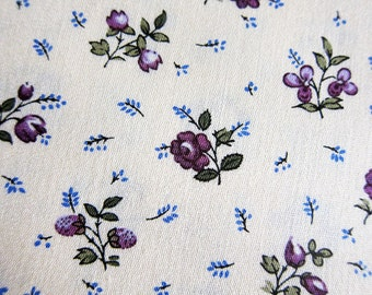 FREE SHIPPING  Tiny Purple Roses Fabric - Japanese Flower Cotton Fabric (F044) - Fat Quarter