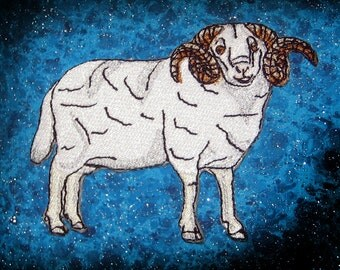 Merino sheep Ram  Iron on Patch