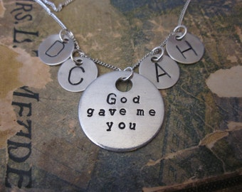 The Rachel Necklace - Custom God Gave Me You Necklace