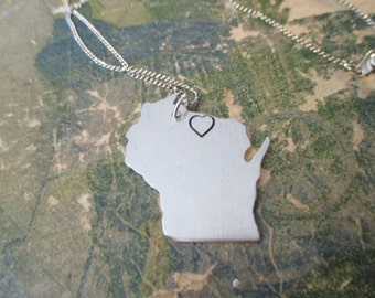 The Jennifer Necklace - Wisconsin Love Pendant Necklace or Key Chain
