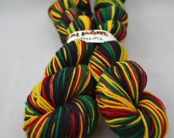 Rasta - Striped Turtle Toes (Self-striping sock yarn)