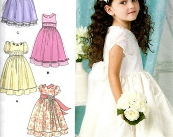 SEWING PATTERN / Make Girls Fancy Dress -First Communion -Flower Girl / Size 4~8