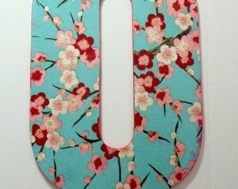Nursery Wall letter, Letter Q, Blossom Letter Q
