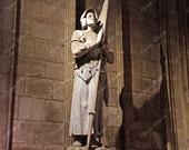 Statue of St. Joan of Arc 1412- 1431 Jeanne d' Arc in Notre Dame Cathedral Paris France Photo Fine Art Photography