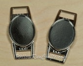 100 Shoe Lace Charms 18 x 25mm Oval Shoe Lace Charm, Large Size Charm  (07-46-923)