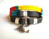 Woven Bracelet Bohemian Leather Wrap Bracelet   Dolphin Friendship Bracelet Charm Bracelet  Boho Jewelry Beach Jewelry