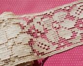 Antique Lace Vintage Lace Trim Wide Filet Lace Silk