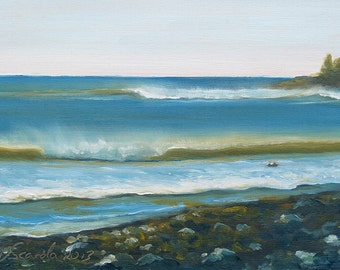 5x7 Greeting Card by Daina Scarola, Item #GC5X7-29 (surf, ocean, waves, beach, Seaforth Cove, Nova Scotia)