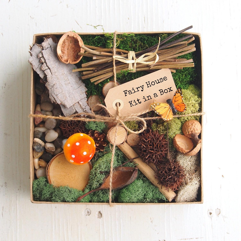 Fairy house kit natural fairy garden diy gnome home by for Fairy garden kits