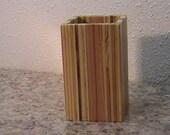 Pencil Cup - Organizer - Pencil Holder - Desktop Organizer - Reclaimed Wood