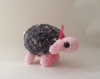 Grey and Pink Sheep Amigurumi Plush