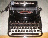 free ship, 'professionly' 'cleaned', tested, case, ready to use UNDERWOOD NOISELESS 77, new ribbon,perfect,excellent/unbelievable condition