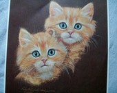 Vintage Kittens Print, Double Trouble, Robert Guzman Forbes, Kitten Picture