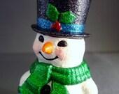 Frosty the Snowman Glittered Figurine