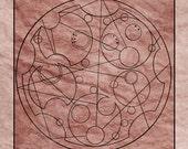 5x7 Commission Custom Doctor Who Gallifreyan Glyph