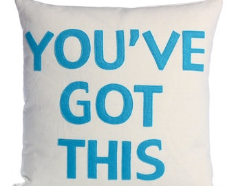 "Throw Pillow, Decorative Pillow, ""You've Got This"" pillow, 16 inch"