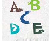 ABC Zoo Wall Vinyl Decals Art Graphics Stickers