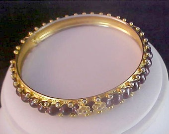 Stunning PURPLE CABOCHON Bangle/Bracelet