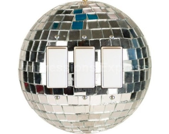 Disco Ball Triple Decora Rocker Switch Plate Cover