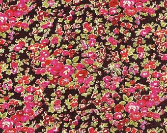 Liberty of London Tana Lawn Tatum Brown/Pink Fabric Fat Quarter