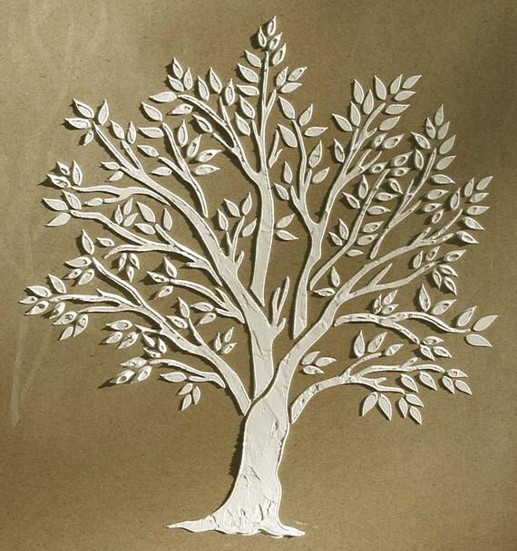 Soulev de pl tre miniature arbre pochoir par elegantstencils for Pochoir arbre