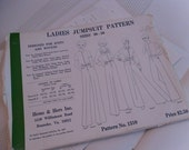 Vintage Ladies Jumpsuit Patterns Size 30-50 by Hems and Hers Patterns Pattern No. 1310 For Knit and Wovens Fabric