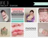 Google Plus Cover Templates, Google+ Cover Template, Photography Templates, Photoshop Templates for Photographers, Instant Download