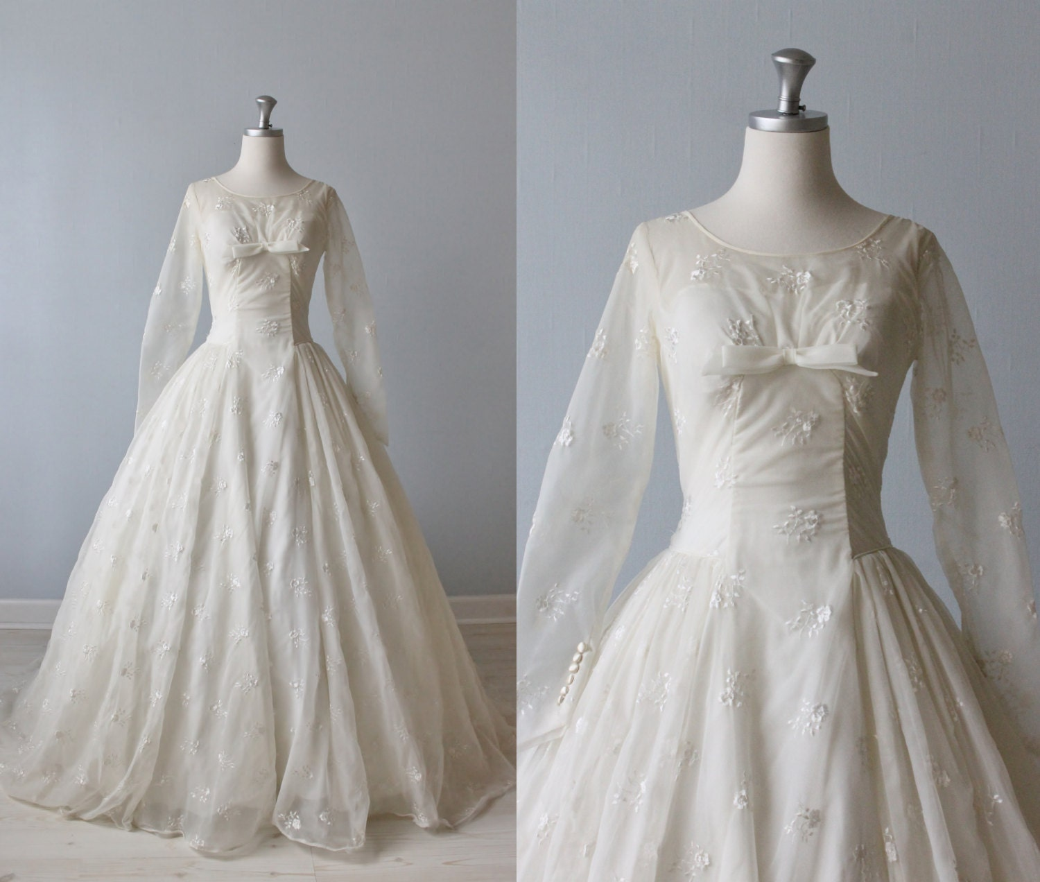 RESERVED 1950s Wedding Dress 1950s Lace by