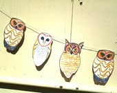 Owl Banner, large Owl Garland, Barn Owl, No Saw-whet, Great Horned Owl