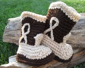 Baby Cowboy Boot Booties brown tan
