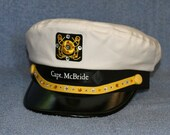 Personalized Yacht CAPTAIN'S HAT with sparkling Faux Rhinestones, perfect for any Nautical occasion Style #200-RS23