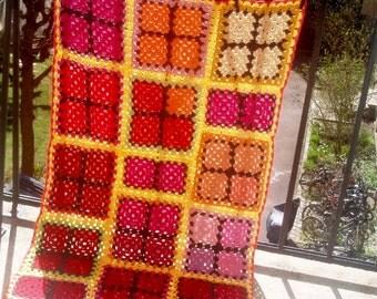 Small Granny Square multiColour Blanket