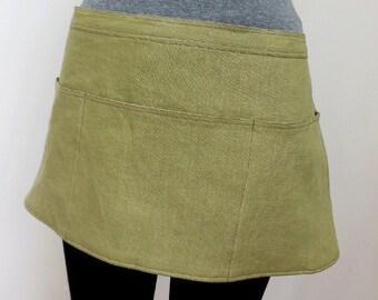 Pure Linen Sage Craft Apron