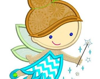 Cutie Fairy Princess Applique 4x4 5x7 6x10 Machine Embroidery Design INSTANT Download