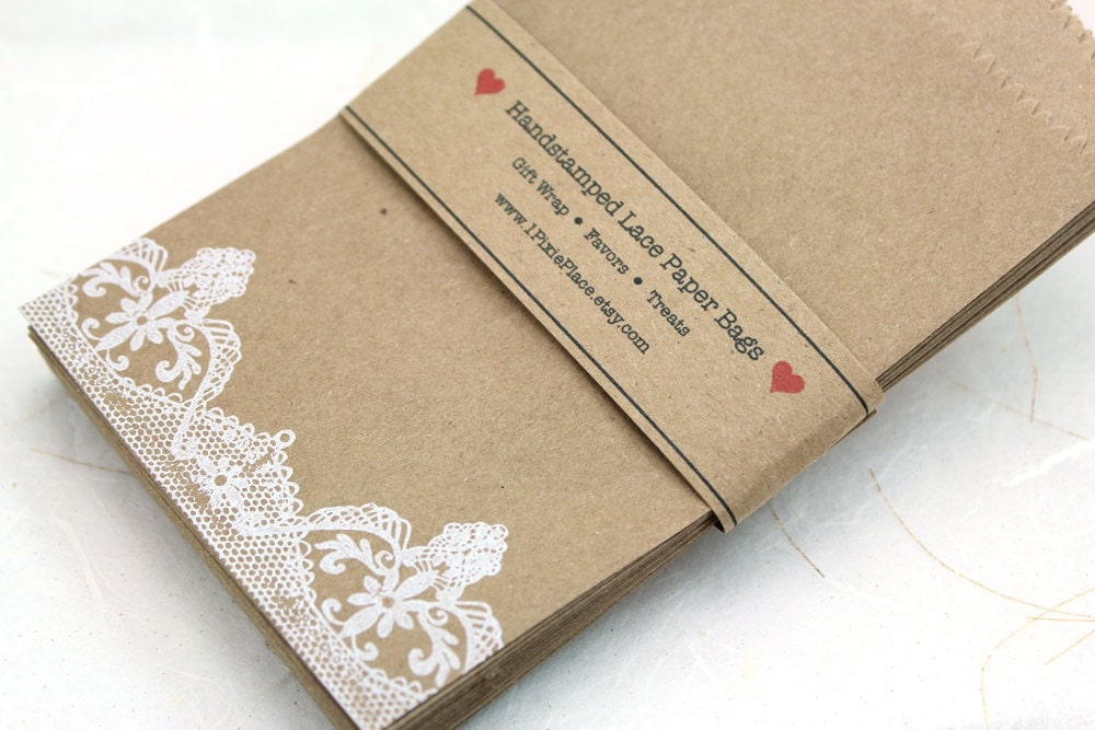Wedding Favor Bags Lace : Set of 25 White Lace Favor Bags Weddings Showers gift