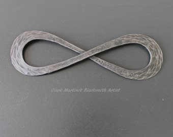 Infinity Symbol love knot- Iron Anniversary Gift - Steel Anniversary Gift - Endless love or Friendship - Personalize iron gift Valentine