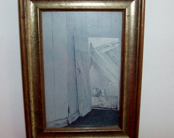 White Washed Milk Barn Framed Picture