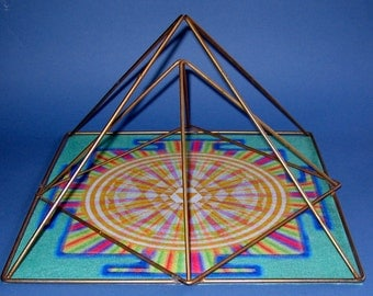 Mandala Sri Yantra Golden Crystal Grid Altar Cloth Sacred Geometry Mandala