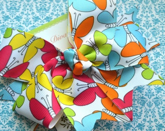 Bright Butterflies XL Diva Bow
