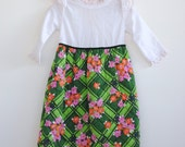 Vintage 1970's Toddler Girl Maxi Dress - Quilted Flower Power (2T)