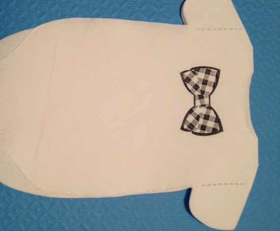 Any quantity baby shirt shaped or bib shaped napkins for Baby shirt and bow tie