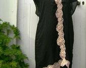 RESERVED sunset salsa cream lace black dress subtle elegant fun artist creative soul wild free bohemian
